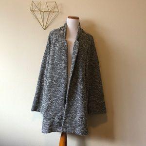 Women's Plus Size Oversized Boxy Blazer Coat